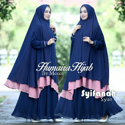 Syifanah Syar'I by Humaira Bahan Ceruty Import